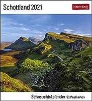 Schottland - Kalender 2021: Sehnsuchtskalender, 53 Postkarten