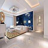 Fototapete Eule auf alten Baum 3D Murals Effekt Wandbild Vlies Tapete Moderne Wanddeko Schlafzimmer Wohnzimmer 300cm(W) x210cm(H)-6 Stripes