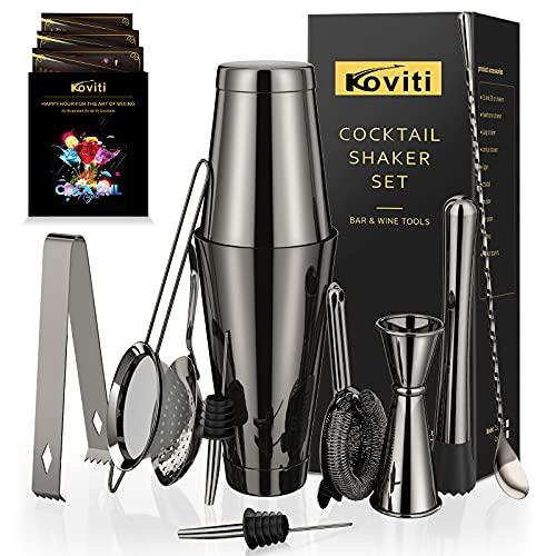Cocktail Shaker - Koviti 12 Piece Bartender Kit - Stainless Steel Cocktail Shaker Set, Premium Bar...