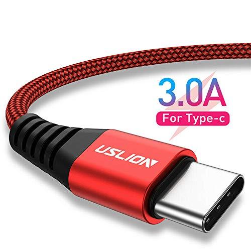 ZHOUXING Cable USB Tipo C 3A de Carga rápida, Cable Syncwire USB 3.0 Tipo C, Compatible con Samsung Galaxy S10 S10E S9 S8 Plus Note 10 9 8, Moto Z, Huawei P30, Macbook, Otro Cargador USB C