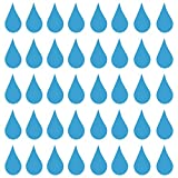 """Minglewood Trading Raindrops (40) 2"""" x 1"""" Vinyl Decal Stickers - Water Droplets Drops Agua - - Sky Blue"""