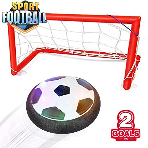 Ngel Football Soccer Ball Goal Set Hover Ball with 2 Gates
