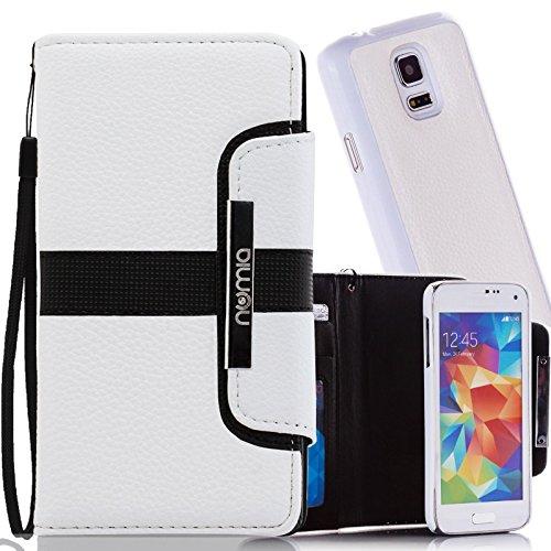numia Schutzhülle für Samsung Galaxy S3 Mini Hülle [herausnehmbares Case] PU Leder Tasche Kartenfach [Weiss]