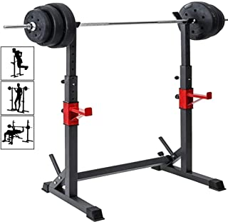 Indoor Home Squat Rack Free Bench Press Portable Dumbbell Rack Suitable for Any Scene SALE /& CLEARANCE Adjustable Barbell Rack