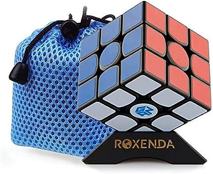 ROXENDA GAN 356 Air Master 3x3 Liso Cubo Mágico Ganspuzzle Cubo de la Velocidad Puzzles Incluido Apoyo de Cubo y Bolsa de Cubo (GAN 356 Air Master)