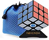ROXENDA Gan 356 Air Speed Cube Professional 3x3x3 Speedcube Ganspuzzle Speed Cube Puzzle Noir Avec Support et Sac de Cube (GAN 356 Air Master)