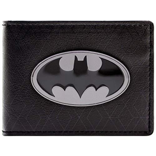 DC Comics Batman Bat Symbol Badge Schwarz Portemonnaie Geldbörse