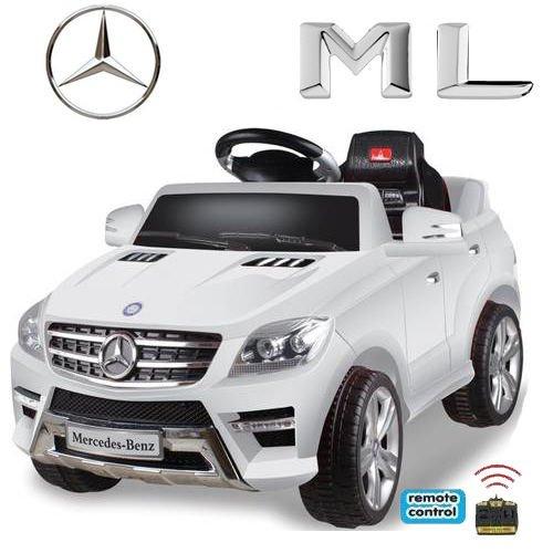Original Mercedes-Benz ML 4x4 4MATIC 350 SUV Lizenz Kinderauto Kinderfahrzeug (WEISS)