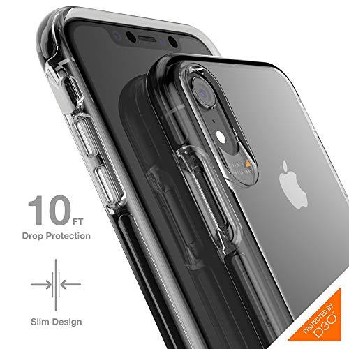 Gear4 Crystal Palace transparente Handyhülle mit Hightech-Aufprallschutz [D3O-geprüft], schlank, Robustes Design, für iPhone XR - Transparent