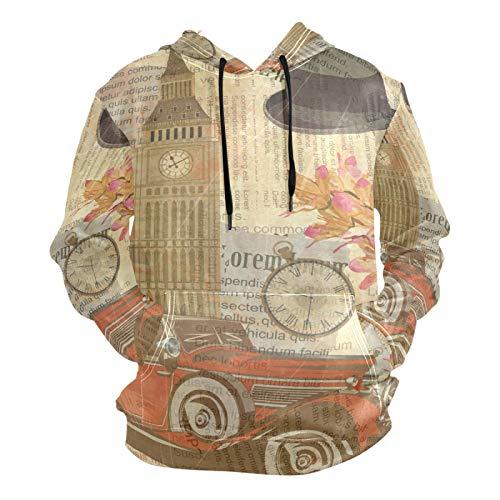 PUXUQU - Sudadera con capucha para hombre, diseño...
