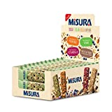 Misura Snack Cereali Natura Ricca | Barrette Cereali, Semi di Girasole, Anacardi e Cioccolato | Confezione da 420g