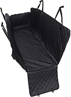Dog Car Seat Cover Waterproof - Pet Car Seat Protector With Side Flaps - Scratch Proof Non-Slip Heavy Duty Dog Hammock - F...