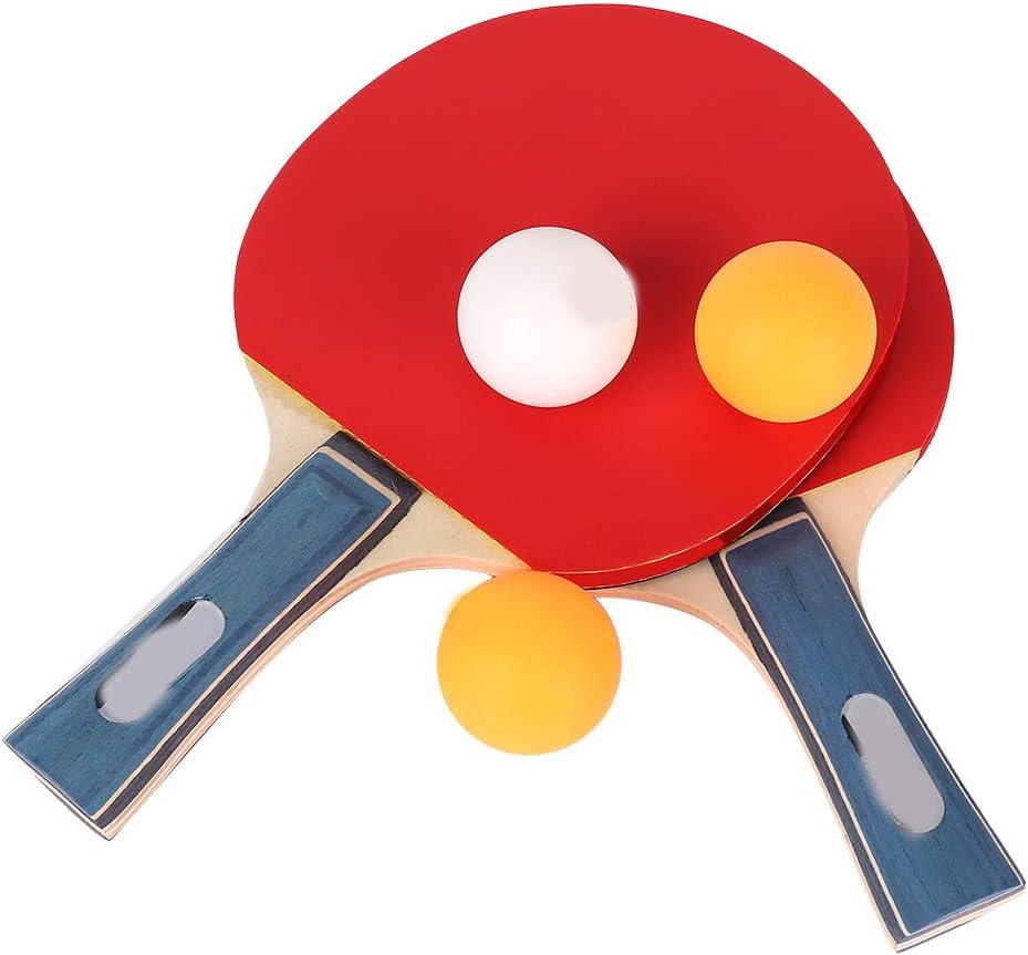 Wallfire Table Tennis Bat Racket Ping Pong Set 2 Rackets Table T