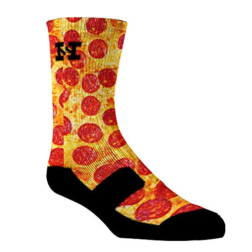 HoopSwagg Brand Athletic Socks Pizza Large