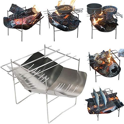 LWJDM Barbecue Charbon, BBQ Barbecue À Charbon De Table en Acier Inoxydable Grill Extérieur en Fonte avec Sac De Transport pour Barbecue De Jardin Extérieur Camping