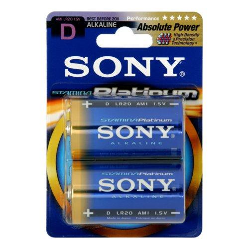 Sony Piles Alcalines Haute performance LR20 Platinum x 2