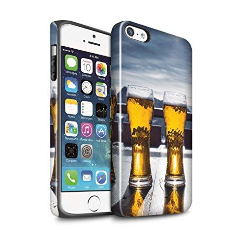 Stuff4 Lucidare Antiurto Custodia/Cover/Caso/Cassa del Telefono per Apple iPhone 5/5S / Apres/Capanna di Sci/Birra/Sciare/Snowboard Disegno