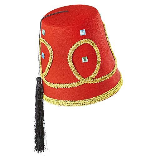 Widmann 1413F Fez Hut aus Filz, Herren, rot, Taglia Unica