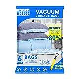 Premium Reusable Vacuum Storage Bags with Free Hand Pump,...