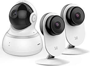 YI Smart AI Indoor Security Camera 2pc and 1080P Dome Camera White Bundle Set, Home Surveillance System with Motion Detect...