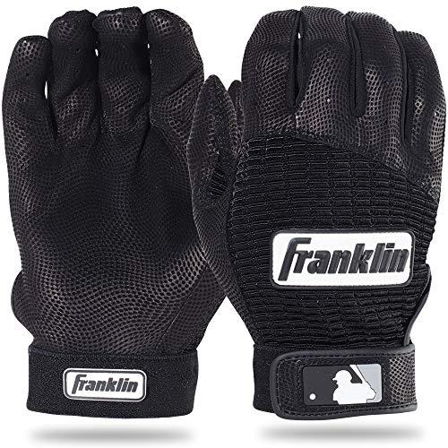 Franklin Sports MLB Pro Classic Gants de Baseball (la Paire), Homme, Noir/Noir