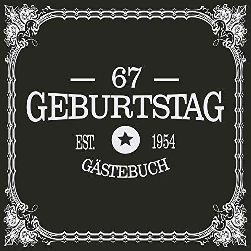 67 Geburtstag Gästebuch 1954: Cooles Geschenk zum Geburtstag Geburtstagsparty Gästebuch Eintragen...