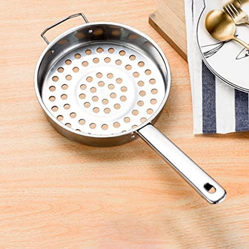 Pequeño orificio grande Filtro de acero inoxidable de doble oreja para hacer sopa de fideos de fideos de fideos de fideos Filtro de formación Multifuncional Cocina Filtro de hogar Malla Tamiz