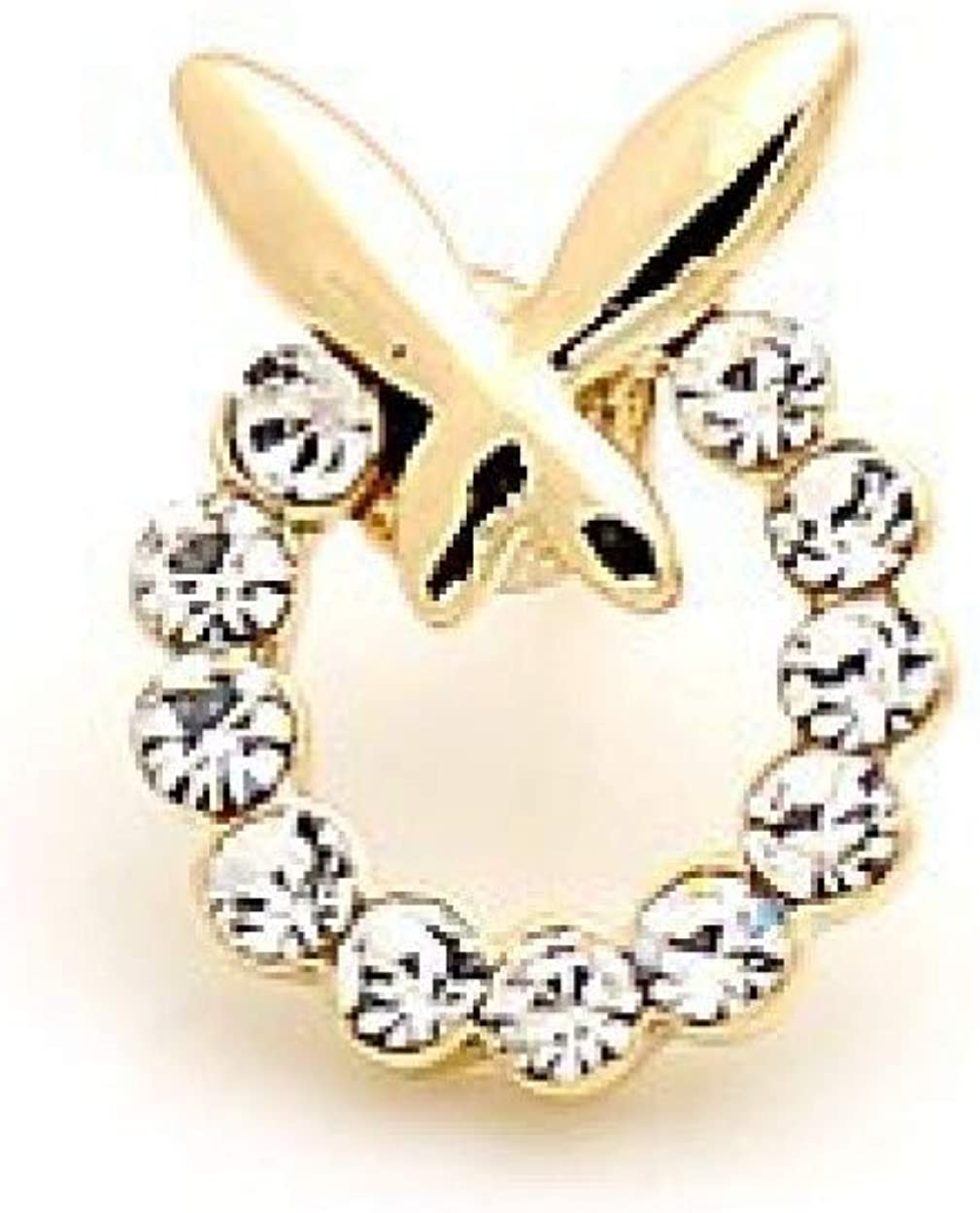 Garment Dress Accessories Collar Decoration Butterfly Pin Shiny Rhinestone Crystal Shirt Collar Pin