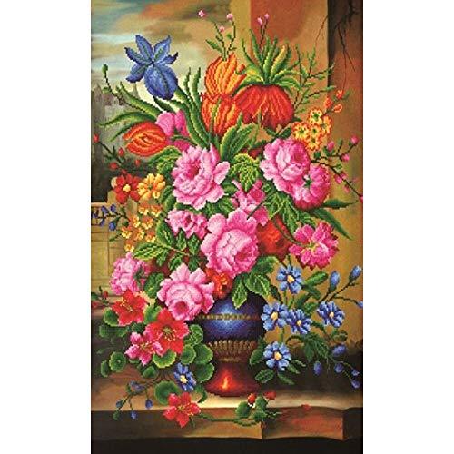 Cuadro bordado de diamante 5D, redondo, diamante completo, bordado con flamenco y flores Mosaico, bricolaje de diamantes, pintura de punto de cruz diamante, conjunto para casa, regalos decorativos