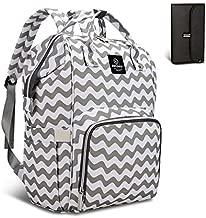 Pipi bear Diaper Bag Backpack,Multifunctional Waterproof Baby Stuff Travel Backpack Large Capacity Nappy Bag for Mom (Chevron)