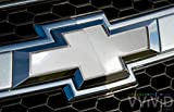 VViViD White Gloss Auto Emblem Vinyl Wrap Overlay Cut-Your-Own Decal for Chevy Bowtie Grill, Rear Logo DIY Easy to Install 11.80 Inches x 4 Inches Sheets (x2)