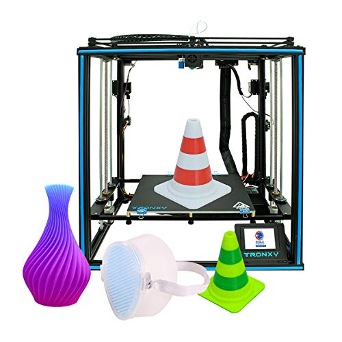 KTOO X5SA-2E High Precision 3D Printer Ultra-Quiet Mainboard Large Print Size 330*330*400mm with 3.5 Inch Color Touchscreen 8GB TF Card 10m Filament Support Dual Color Print Resume Printing 3D Printe