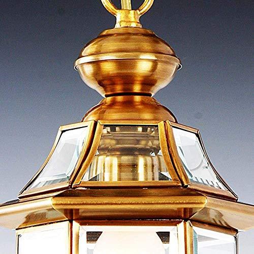 MKKM Lámpara de Araña, una Pequeña Lámpara de Araña Retro Atmósfera Simple de Cobre Araña Corredor Balcón Porche Puro Lámparas de Cobre 18Cm * 33Cm (E27 * 1) Decoración