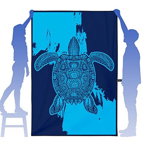 OCOOPA Toalla de Playa de Microfibra Extra Grande, XL 210x145cm Toalla compacta, Ligera y de Secado rápido sin Arena Acampar, Viajar, Playa, Nadar