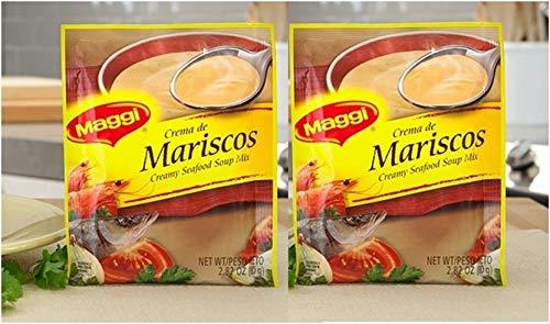 MAGGI Sopa Crema de Mariscos 80 grs. - 2 Pack/Creamy Seafood Soup Mix 2.82 oz. - 2 Pack