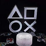 Lámpara de ilusión 3D Accesorios de Playstation Ps4 5 Xbox Gamepad Regalo creativo para amigos Decoración de escritorio de sala de juegos- D_16_Color_With_Remote