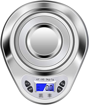 Kitchen Scales - Stainless Steel, Multi-Unit Replacement, Dual-use Precision Waterproof Small Multi-Function Jewellery Food Electronic Scale - 2 Kinds Range Optional (Size : 3KG)