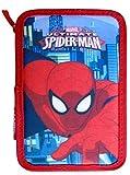 Paxos 82946 Astuccio Triplo Scompartimento Tessuto 13x20x6 cm Spiderman