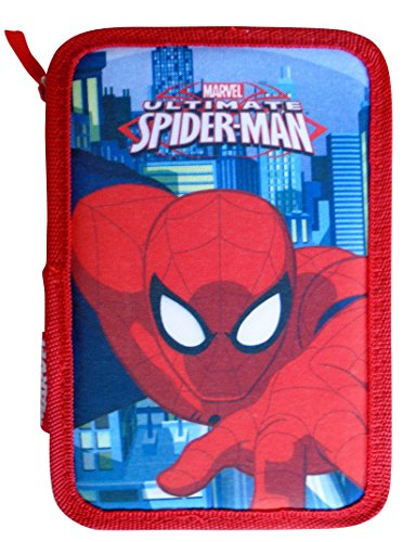 Paxos 82946–Estuche triple Tejido parte 13x 20x 6cm–Spiderman