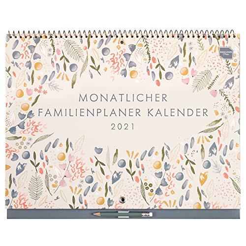 Boxclever Press Monatlicher Familienplaner 2020 2021. Großer Kalender 2020 2021 mit Monatsansicht und 6 Spalten. Wandkalender 2020 2021 von Sept.20 bis Dez.21 mit Erinnerungssticker und Tasche.