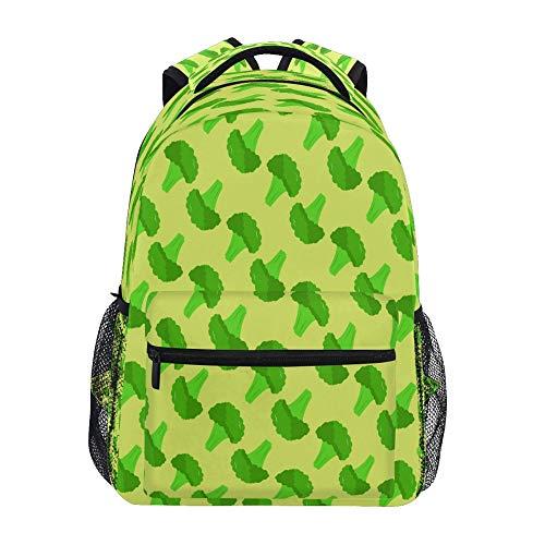 Jard-Baby Broccoli Vegetable Print Reise Schultern Büchertasche Lightweight Waterproof College Laptop Rucksack Elementary Large