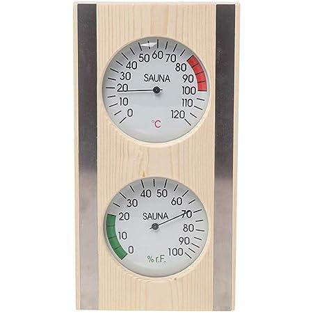 MagiDeal Grain de bois Sauna Thermomètre et Hygromètre 2 dans 1 Bois Hygrothermographe En Plein Air Intérieur Sauna Ménage Accessoires