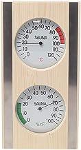MagiDeal Grain de bois Sauna Thermomètre et Hygromètre 2 dans 1 Bois Hygrothermographe En Plein Air Intérieur Sauna Ménage...