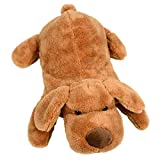 Novelty Hot Water Bottle with Soft Plush Brown Puppy Dog Design Cover Removable for Washing 750ml Capacity...
