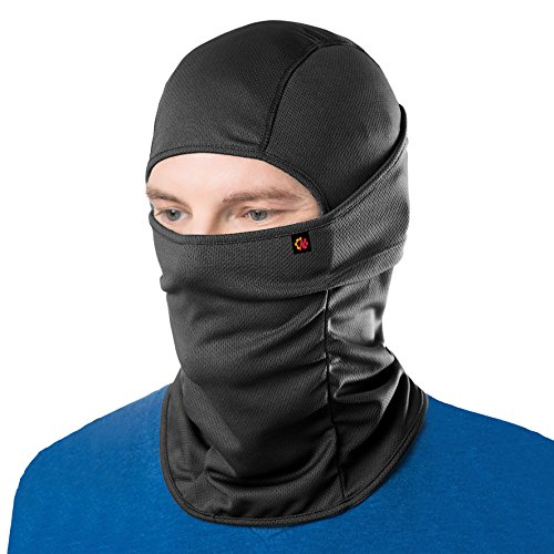 Le Gear Face Mask Pro+ for Bike, Ski, Cycling, Running, Hiking - Protects from Wind, Sun, Dust - 4 Way Stretch - #1 Rated Face Protection Mask (Black), Free Size, Pack of 1, for Men and Women, no valve