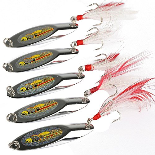 Goture Long Distance Cast Metal Spoon Fishing Lures (Pack of 10)