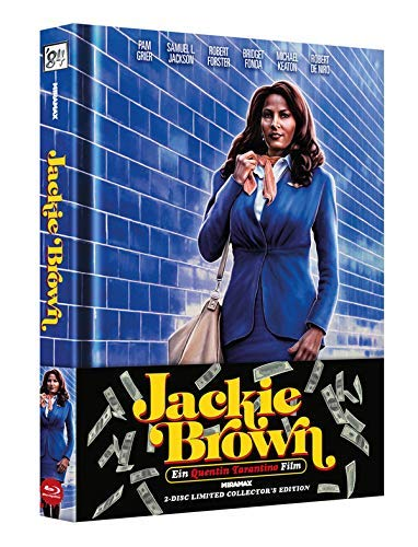 wattiertes Mediabook - Jackie Brown - 2 Disc Limited Edition (Blu Ray + DVD) mit Booklet - Quentin Tarantino Collection