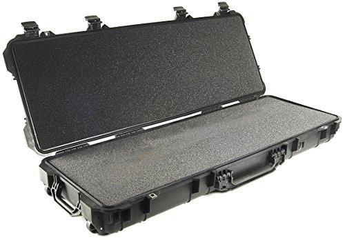 PELI 1720 longue valise étanche pour trépieds et fusils tactiques, étanche à l'eau et à la poussière IP67, capacité de49L, fabriquée aux États-Unis, avec insert en mousse personnalisable, noire