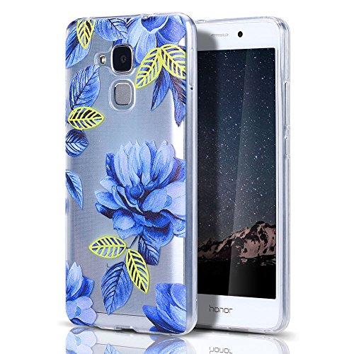 Huawei Honor 5C/GT3 Hülle, HülleLover Superdünner Transparenter Tasche Schutzhülle, Honor 5C/7 Lite/Huawei GT3 5.2