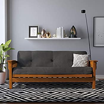 DHP Eve 8 Inch Thermobonded High Density Polyester Fill Futon Mattress Gray